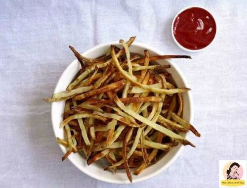 Baked French Fries | Healthy French Fries Recipe