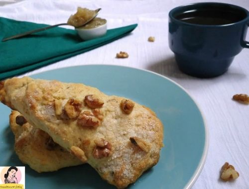 Cinnamon Walnut Scones