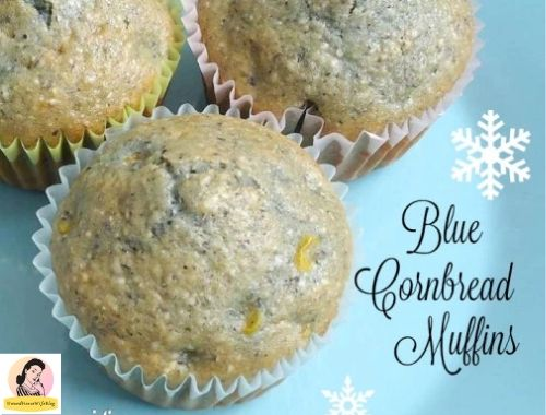 blue cornmeal cornbread muffins