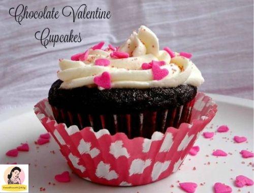chocolate valentine cupcakes