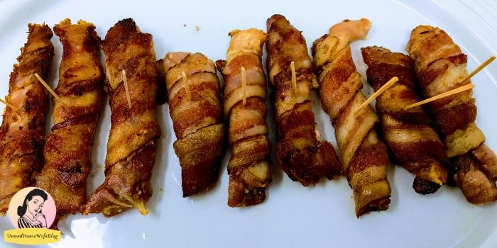 Baked Wrapped Chicken with bacon