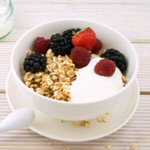 Triple Berry Oatmeal Breakfast Bowl